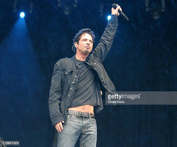 Chris Cornell during 2007 Hyde Park Calling – Day 2 at Hyde Park in London Great Britain