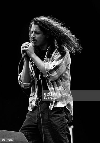 Chris Cornell from Soundgarden performs live on stage at Pinkpop festival in Landgraaf Netherlands on June 08 1992