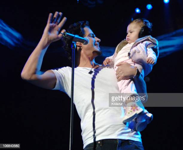 Chris Cornell of Audioslave and his daughter Toni during Audioslave in Concert at Madison Square Garden in New York City October 29 2005 at Madison...