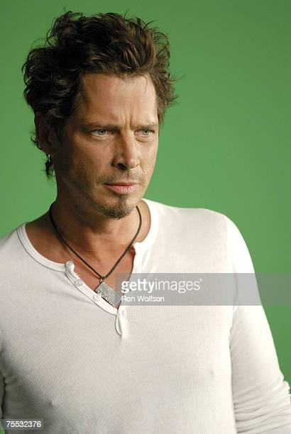 Chris Cornell of Audioslave at the Sunset Gower Studios in Los Angeles California
