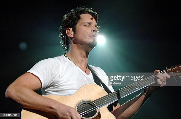 Chris Cornell of Audioslave during Audioslave in Concert at Madison Square Garden in New York City October 29 2005 at Madison Square Garden in New...
