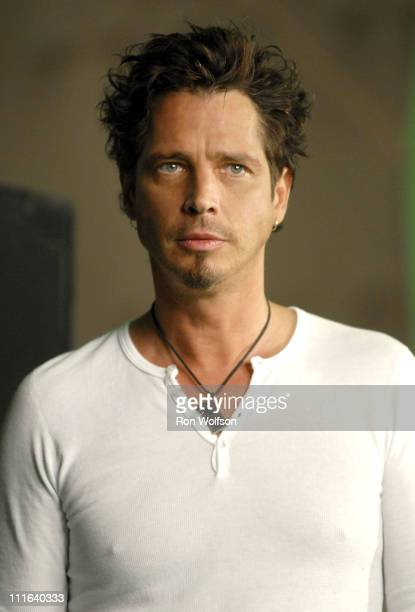 Chris Cornell of Audioslave during Chris Cornell of Audioslave Video Shoot June 29 2006 at Sunset Gower Studios in Los Angeles California United...
