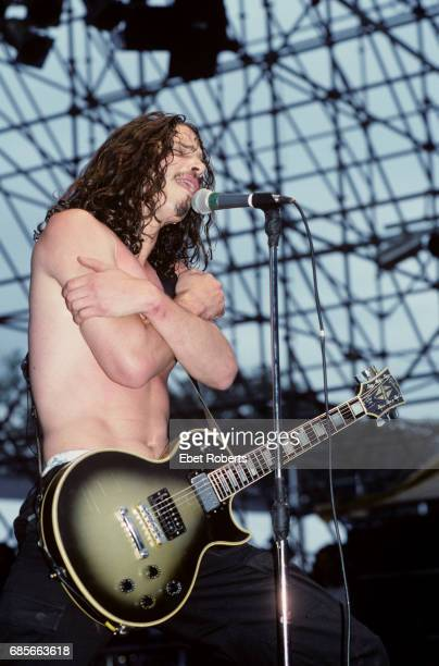 Chris Cornell of Soundgarden performing at Lollapalooza '92 at Shoreline Amphitheatre in Mount View California on August 15 1992