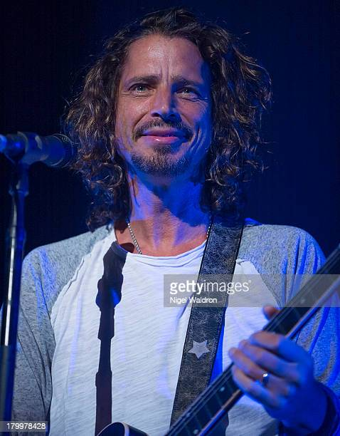Chris Cornell of Soundgarden performs at Oslo Spektrum on September 7 2013 in Oslo Norway