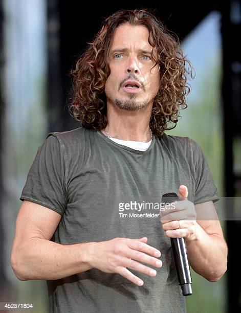 Chris Cornell of Soundgarden performs during the Pemberson Music and Arts Festival on July 18 2014 in Pemberton British Columbia