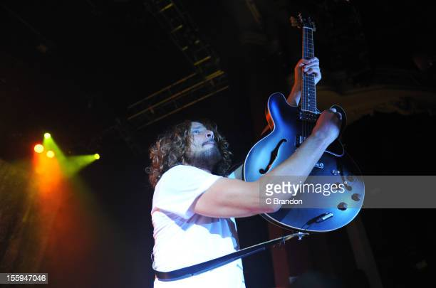 Chris Cornell of Soundgarden performs on stage at Shepherds Bush Empire on November 9 2012 in London United Kingdom