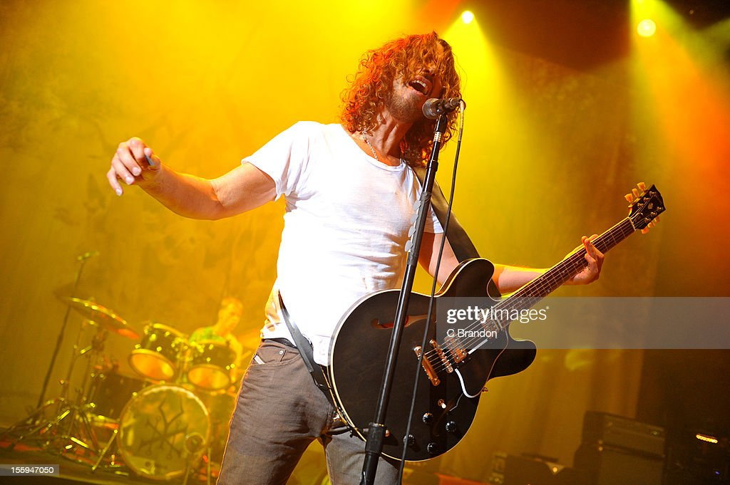 Chris Cornell of Soundgarden performs on stage at Shepherds Bush Empire on November 9, 2012 in London, United Kingdom.