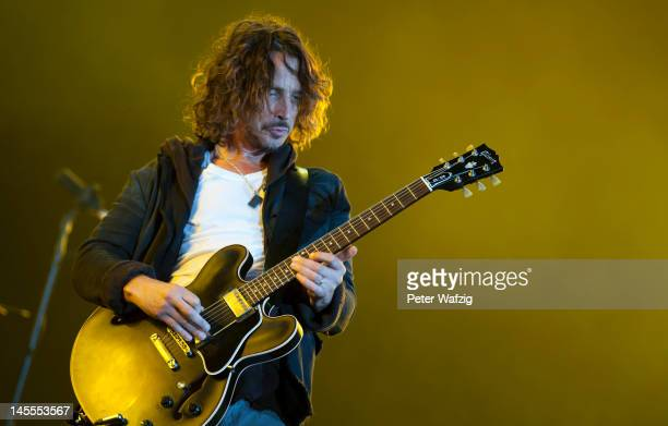 Chris Cornell of Soundgarden performs on stage during the first day of Rock Am Ring on June 01 2012 in Nuerburg Germany