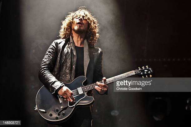 Chris Cornell of Soundgarden performs on stage on Day 1 of Hard Rock Calling at Hyde Park on July 13 2012 in London United Kingdom