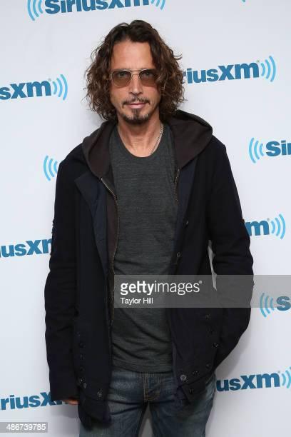 Chris Cornell of Soundgarden visits the SiriusXM Studios on April 25 2014 in New York City