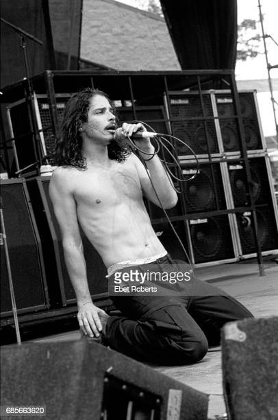 Chris Cornell performing with Soundgarden at Lollapalooza at Montage Mountain Pennsylvania on August 15 1992