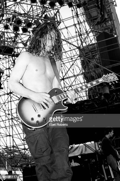 Chris Cornell performing with Soundgarden at Lollapalooza at Montage Mountain Pennsylvania on August 151992