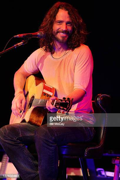 Chris Cornell performs at The Music Box at the Borgata Hotel Casino Spa April 15 2011 in Atlantic City New Jersey