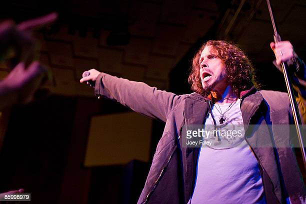 Chris Cornell performs live in concert at the Vogue Theatre on April 15 2009 in Indianapolis