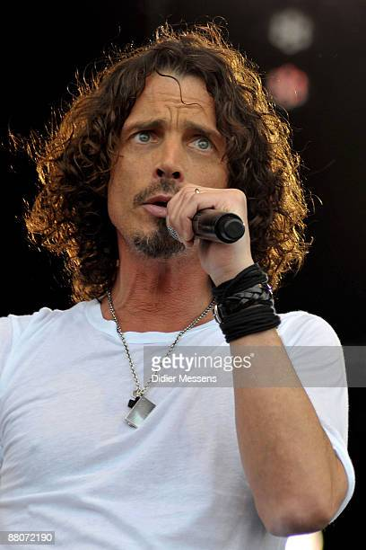 Chris Cornell performs on stage on day 1 of Pinkpop at Megaland on May 30 2009 in Landgraaf Netherlands