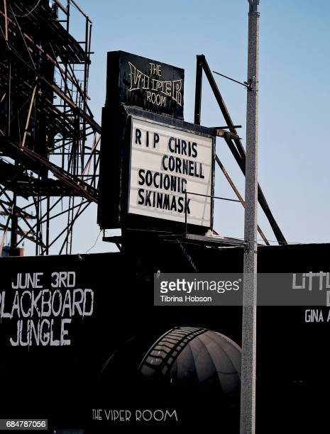 Chris Cornell remembered on The Sunset Strip at The Viper Room on May 18 2017 in Los Angeles California