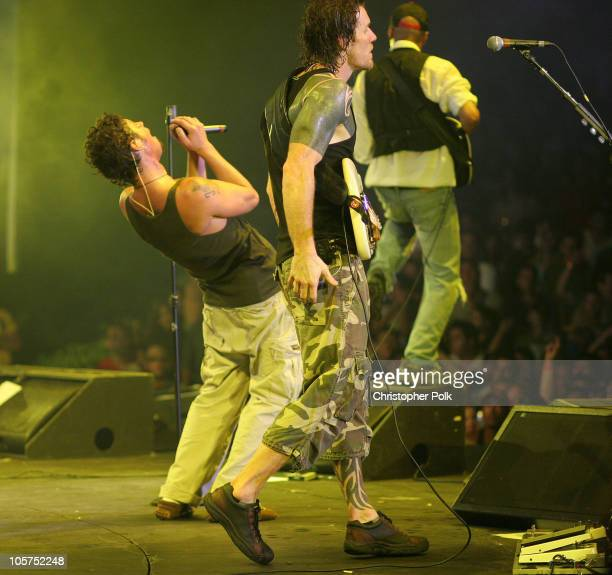 Chris Cornell Tom Morello and Tim Commerford of Audioslave