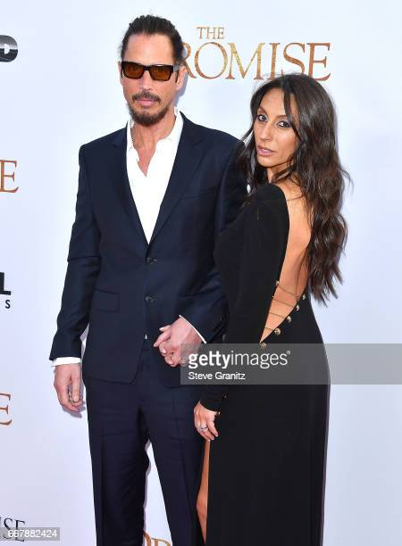 Chris Cornell Vicky Karayiannis arrives at the Premiere Of Open Road Films' 'The Promise' at TCL Chinese Theatre on April 12 2017 in Hollywood...
