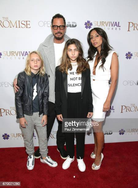 Chris Cornell with family attend 'The Promise' New York Screening at Paris Theatre on April 18 2017 in New York City