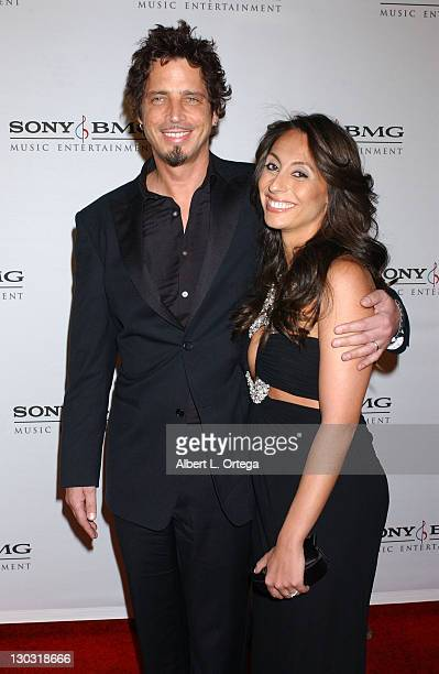 Chris Cornell with guest during 2006 Sony/BMG GRAMMY After Party Arrivals at Roosevelt Hotel in Hollywood California United States