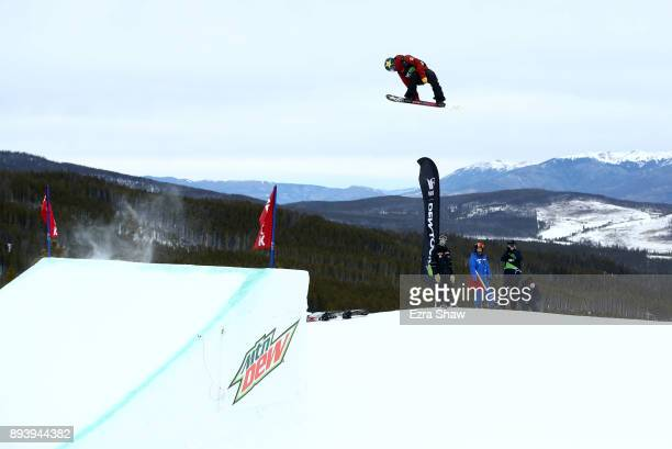Chris Corning competes in the men's snowboard Slopestyle Final during Day 4 of the Dew Tour on December 16 2017 in Breckenridge Colorado