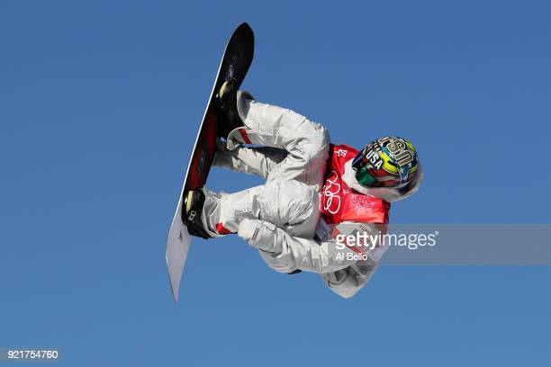Chris Corning of the United States competes during the Men's Big Air Qualification on day 12 of the PyeongChang 2018 Winter Olympic Games at Alpensia...