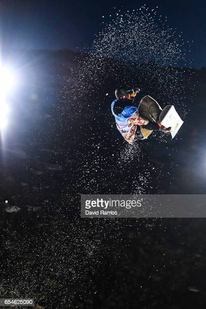 Chris Corning of The United States competes in the Men's Snowboard Big Air final on day ten of FIS Freestyle Ski Snowboard World Championships 2017...