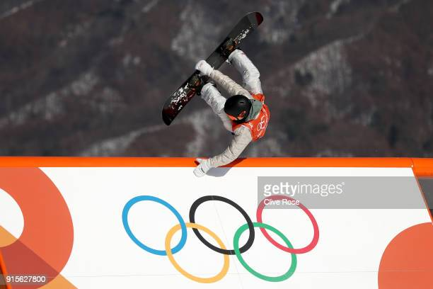 Chris Corning of USA in action during Slopestyle training ahead of the PyeongChang 2018 Winter Olympic Games at Phoenix Park on February 8 2018 in...