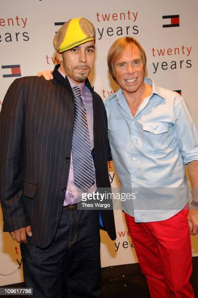 Chris Cortez and Tommy Hilfiger during Olympus Fashion Week Spring 2006 Tommy Hilfiger 20th Anniversary Celebration Front Row and Backstage at Bryant...
