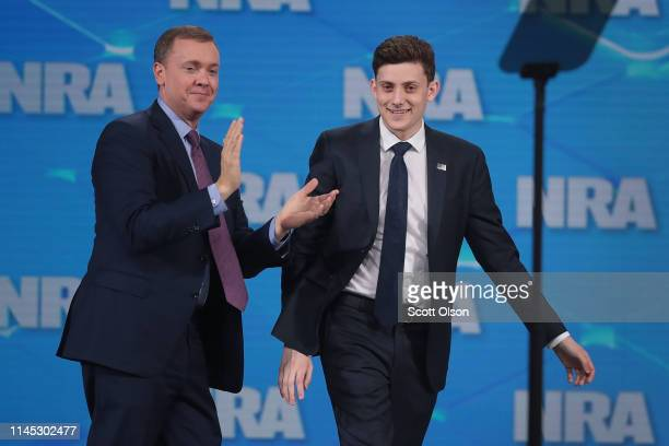 Chris Cox , executive director of the NRA-ILA, introduces Kyle Kashuv, a Marjory Stoneman Douglas High School student, during the NRA-ILA Leadership...