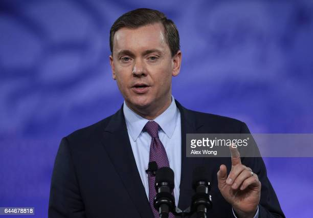 Chris Cox executive director of the NRA's Institute for Legislative Action speaks during the Conservative Political Action Conference at the Gaylord...