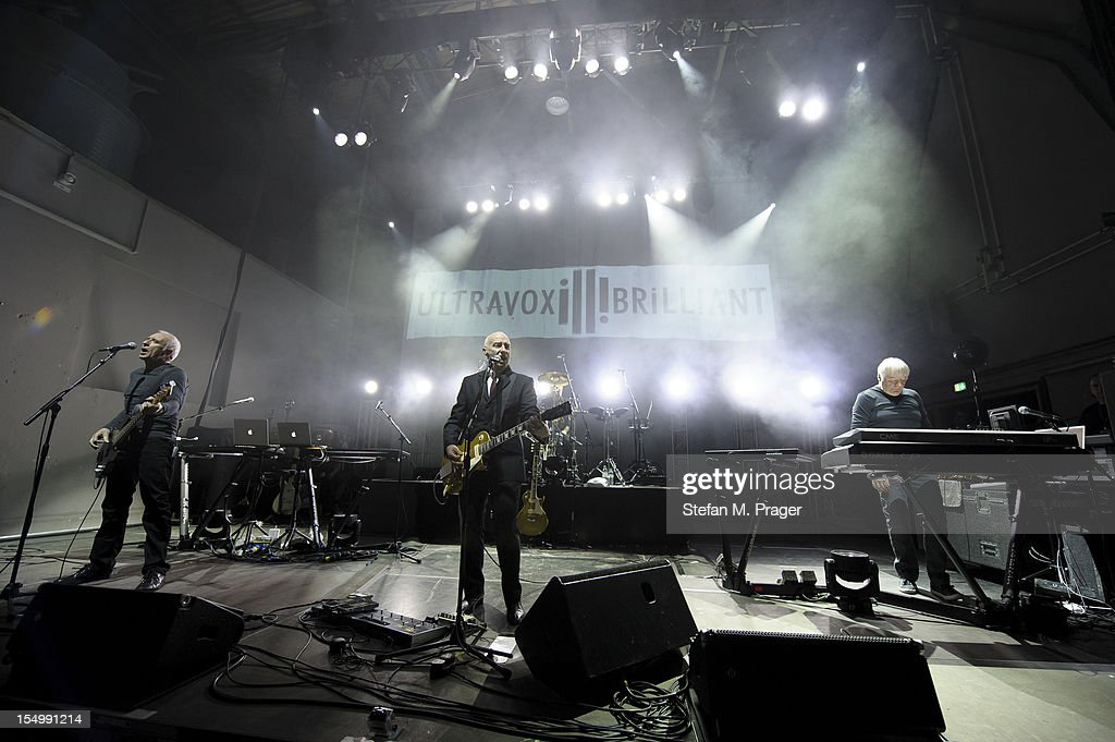 Chris Cross, Midge Ure, Warren Cann and Billy Currie of Ultravox perform on stage at Kesselhaus on October 29, 2012 in Munich, Germany.