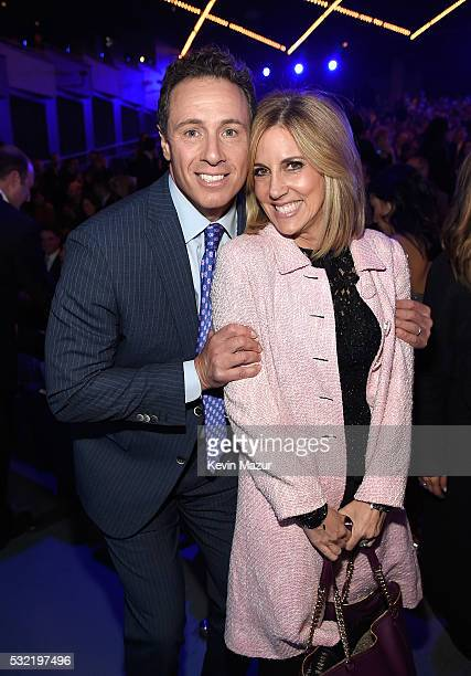 Chris Cuomo and Alisyn Camerota during Turner Upfront 2016 show at The Theater at Madison Square Garden on May 18 2016 in New York City