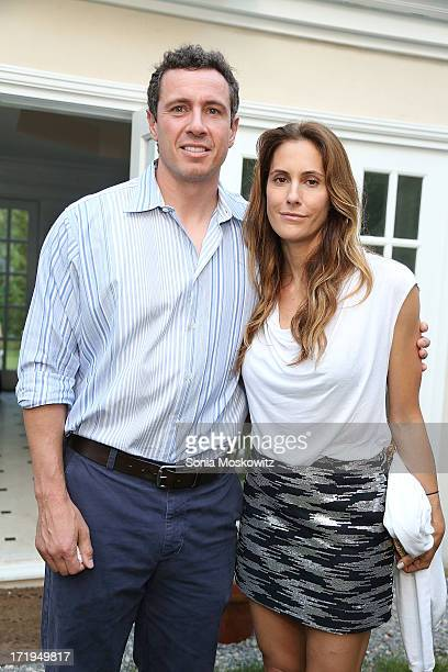 "Chris Cuomo and Christina Greeven Cuomo attend the after party for a special Hamptons screening of ""The Way,Way Back"" at Goose Creek on June 29, 2013..."