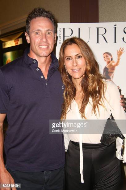 "Chris Cuomo and Cristina Cuomo attend the ""Blind"" Hamptons premiere at UA Southampton Cinemas, hosted by Purist Magazine, on July 2, 2017 in..."