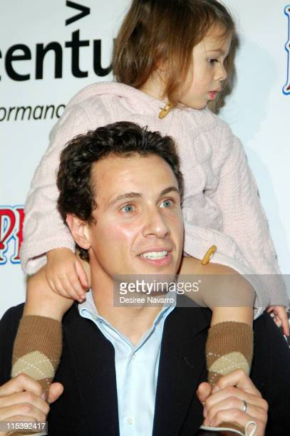 Chris Cuomo and daughter Bella during 2005 Big Apple Circus Opening Night Gala Benefit at Damrosch Park Lincoln Center in New York City New York...