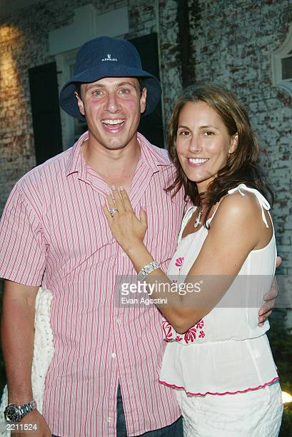 Chris Cuomo and his wife Cristina Greeven Cuomo attend a special screening of Ashtanga NY as part of The Young Patrons of Guild Hall and Piaget's...