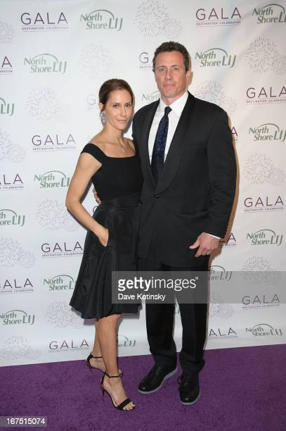 Chris Cuomo and wife attend the 2013 North ShoreLIJ Health System Gala at the Intrepid SeaAirSpace Museum on April 25 2013 in New York City
