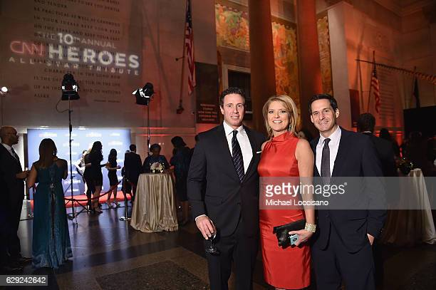 Chris Cuomo Christine Romans and John Berman during the CNN Heroes Gala 2016 at the American Museum of Natural History on December 11 2016 in New...