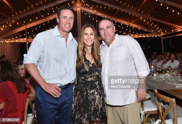 Chris Cuomo, Cristina Cuomo and Chef Jose Andres attend the weekend opening of The NEW ultra-luxury Cove Resort at Atlantis Paradise Island on...
