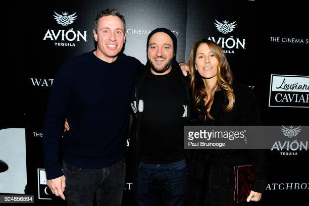 Chris Cuomo Gregg Bello and Cristina Greeven Cuomo attend The Cinema Society with Avion and Watchbox host a screening of Louisiana Caviar at iPic...
