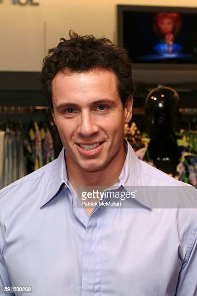 Chris Cuomo in Versace attends Versace Men's Spring 2006 Collection Launch at Saks Fifth Avenue on December 8 2005 in New York City