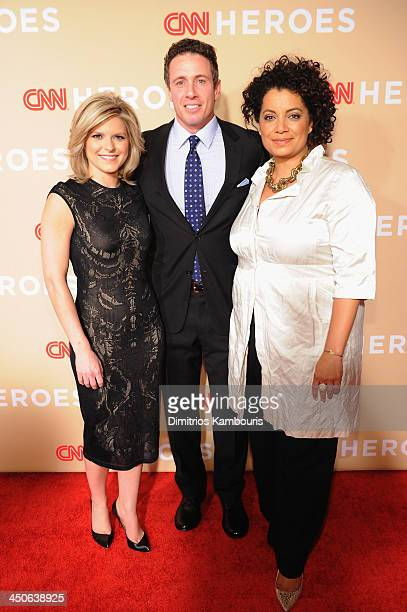 Chris Cuomo Kate Bolduan and Michaela Pereira attend 2013 CNN Heroes An All Star Tribute at the American Museum of Natural History on November 19...