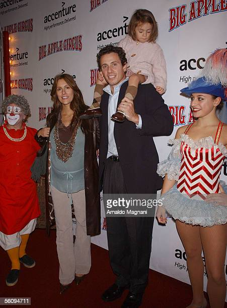 Chris Cuomo wife Cristina Greeven Cuomo and daughter Bella attend are seen at the opening of the Big Apple Circus Benefit in Lincoln Center on...