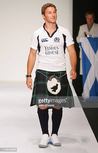 Chris Cusiter during Johnnie Walker Presents Dressed to Kilt Runway Show at Smashbox Studios in Los Angeles California United States