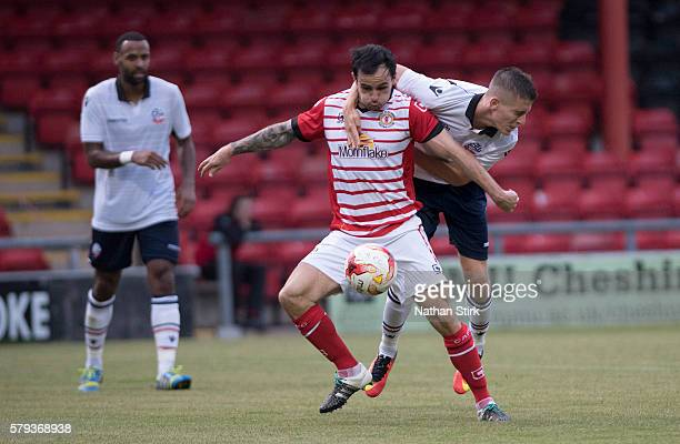 Chris Dagnall of Crewe Alexandra in action during to the PreSeason Friendly between Crewe Alexandra and Bolton Wanderers at The Alexandra Stadium on...