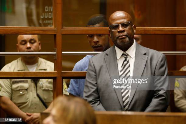 Chris Darden former OJ Simpson prosecutor represents Eric Holder in court April 4 2019 in Los Angeles California Holder pleaded not guilty at his...