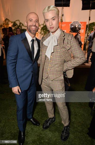 Chris Daughtry and Chester Lockhart attend The Trevor Project's TrevorLIVE LA 2019 at The Beverly Hilton Hotel on November 17 2019 in Beverly Hills...