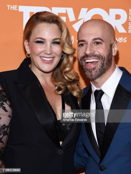 Chris Daughtry and Deanna Daughtry arrive at the 2019 TrevorLive Los Angeles Gala at The Beverly Hilton Hotel on November 17 2019 in Beverly Hills...
