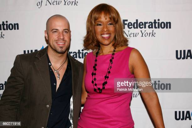 Chris Daughtry and Gayle King attend UJAFEDERATION OF NEW YORK honor BARRY WEISS with The Music Visionary of the Year Award at The Pierre on June 18...